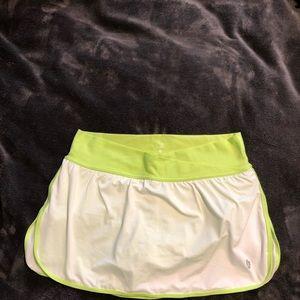 Active tennis skirt